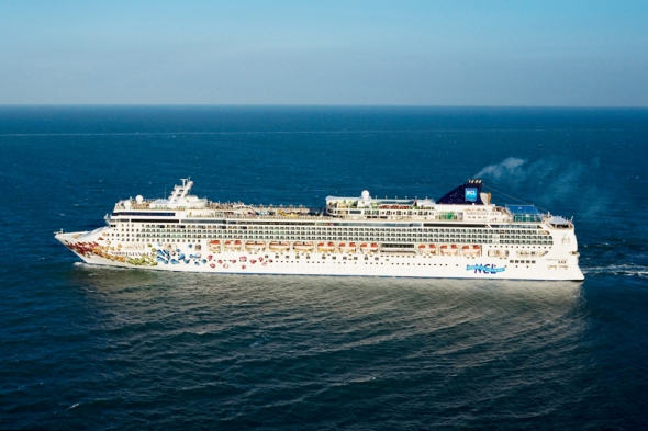 Norwegian Gem off Dover