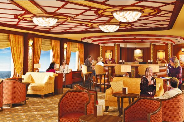 Queen elizabeth cruise review countdown to launch of the cunard qe cruise ship cruise for Queen elizabeth 2 ship interior