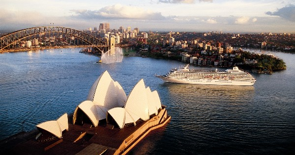 Crystal cruise ship in Sydney