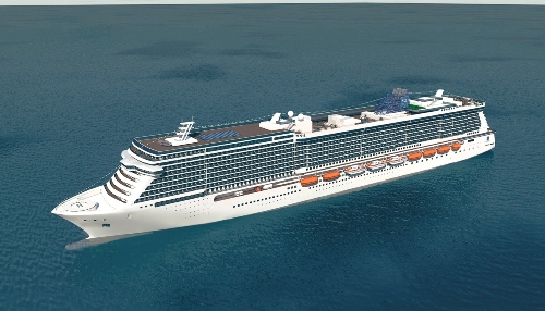 Artist rendering of new Norwegian Cruise Line ship