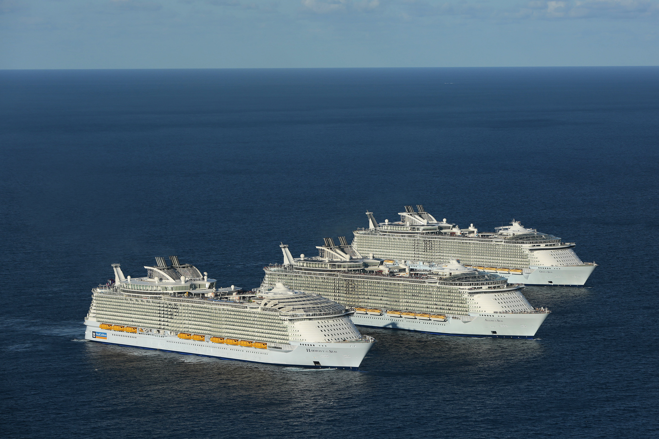 Three sister ships from Royal Caribbean's Oasis Class