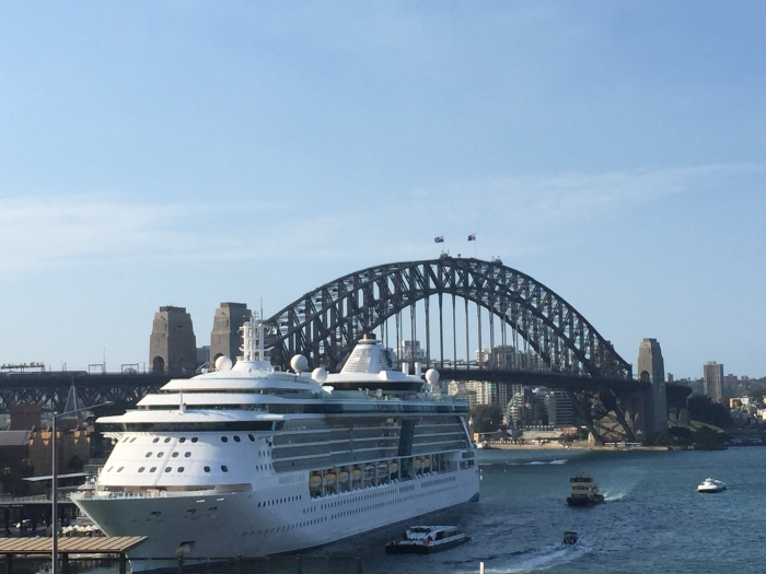 Radiance of the Seas from Royal Caribbean on a cruise in Sydney, Australia