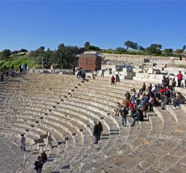Ancient Roman theatre in Kourion, Cyprus compliments of Wknight94 talk