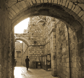 Street in Jerusalem Old City compliments of Nagillum
