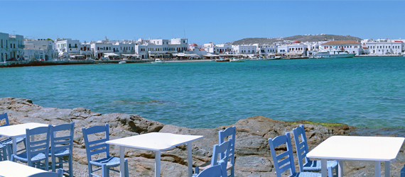 Seaside on Mykonos in the Greek Islands compliments of hpschaefer