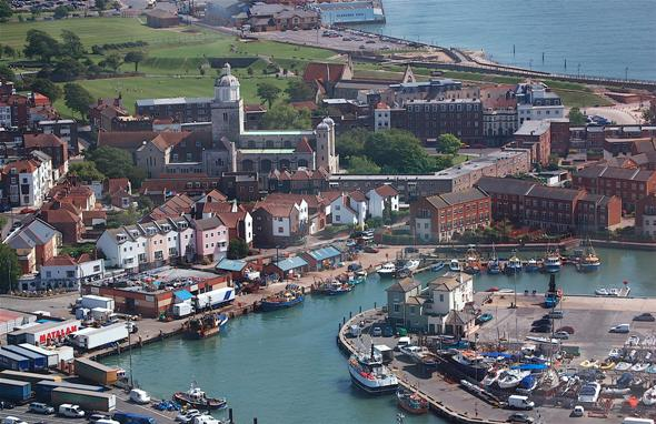 Aerial view of Old Portsmouth
