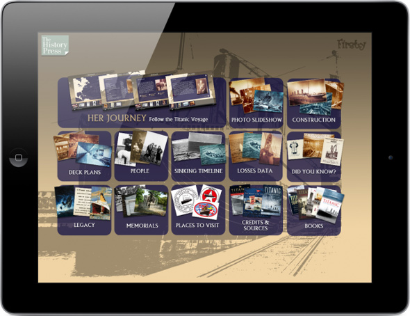 Titanic App from History Press