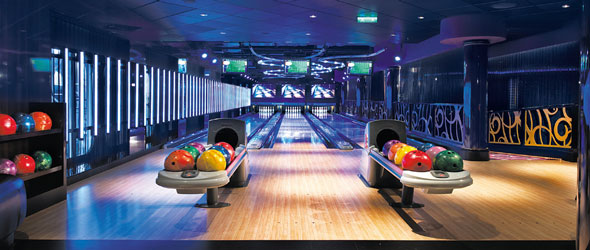 Bowling Alley onboard the Norwegian Epic