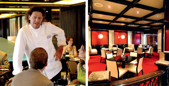 5 of the best cruise ship restaurants cruise international for P o ventura dining rooms