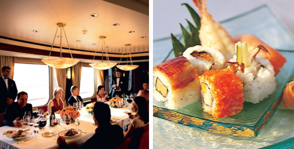5 of the best restaurants on cruise ships