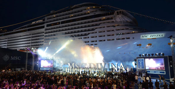 The launch of MSC Divinia