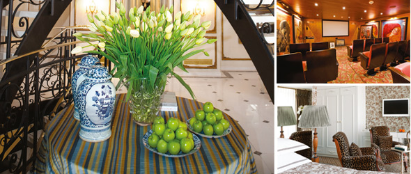 SS Antoinette's interior takes inspiration from 18th-Century France.