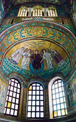 Mosaics in the San Vitale Basilica, Ravenna