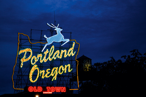White-Stag-Portland-OR-Sign