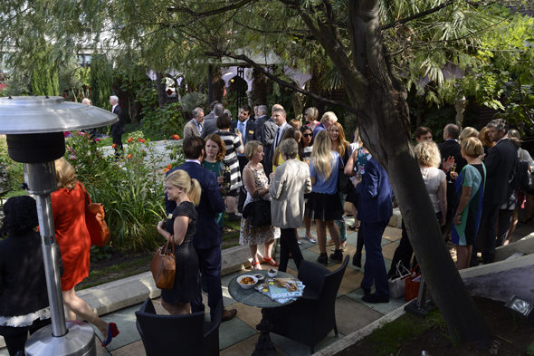 Guests at Kensington Roof Gardens