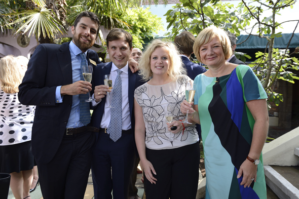 Wendy Atkin-Smith, Managing Director, Viking Cruises and Samantha Crossfield, PR Manager, Viking Cruises with Steve Ross, Deputy MD and Will Delmont, Head of Marketing from The Chelsea Magazine Company