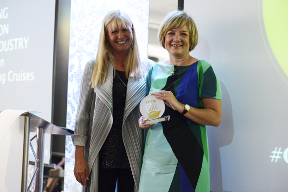 Wendy Atkin-Smith, Managing Director, Viking Cruises with Cruise Awards presenter Julie Peasgood