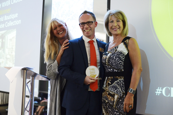 Dan Whitehouse, Marketing Director at Titan Travel with Julie Peasgood and Jennie Bond