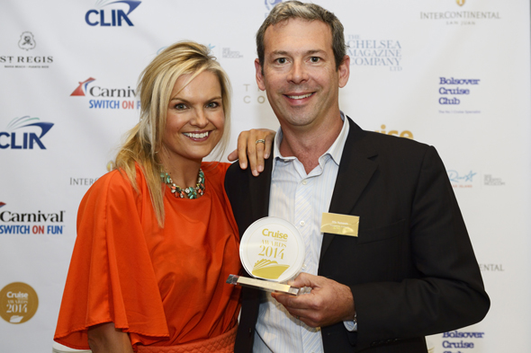 Olly Symonds, Marketing and Communications Manager for Voyages to Antiquity and Katy Hill