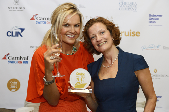 Gill Haynes, Head of PR from Cunard with Katy Hill