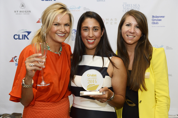 Erin Johnson, Head of PR and Charlotte Mendoza, Marketing Executive from Carnival with Katy Hill