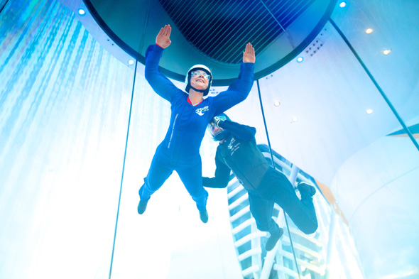Quantum of the Sea's iFly skydiving simulator