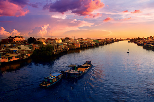 Sunset over the Mekong (Credit: Istock)