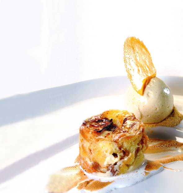 white chocolate and whisky croissant pudding - James Martin recipes