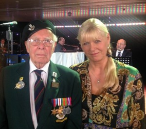 Julie Peasgood with British war veteran William Adams (Shropshire Regiment)