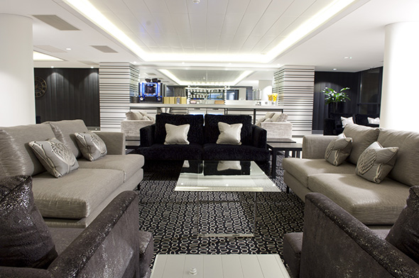Stansted's private jet terminal departure lounge