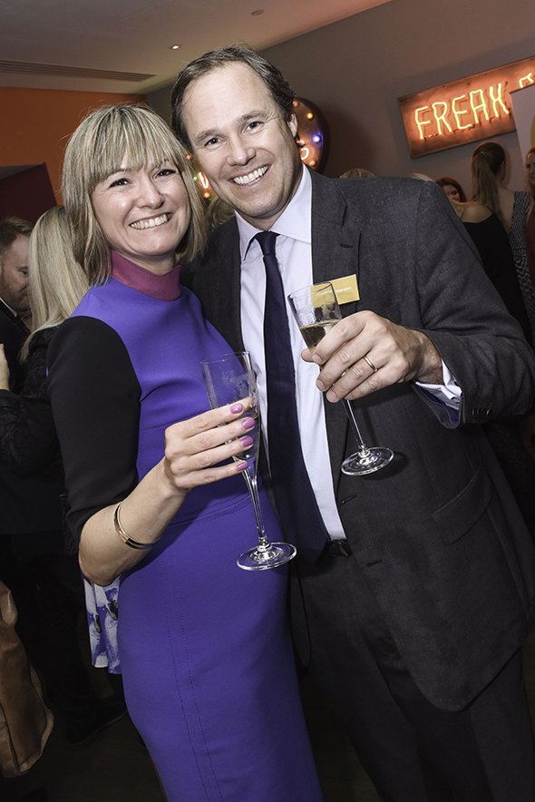 Simone Clark of Iglu Cruise with Christopher Edgington, Marketing Director of P&O Cruises