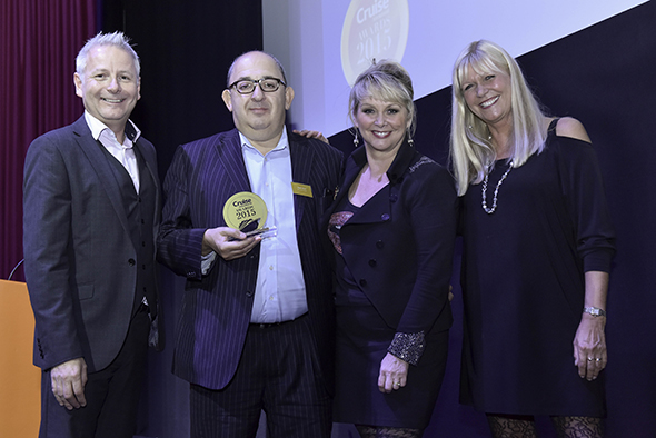 Andy Harmer, Director of CLIA, Roger Allard of All Leisure Group, Cheryl Baker and Julie Peasgood