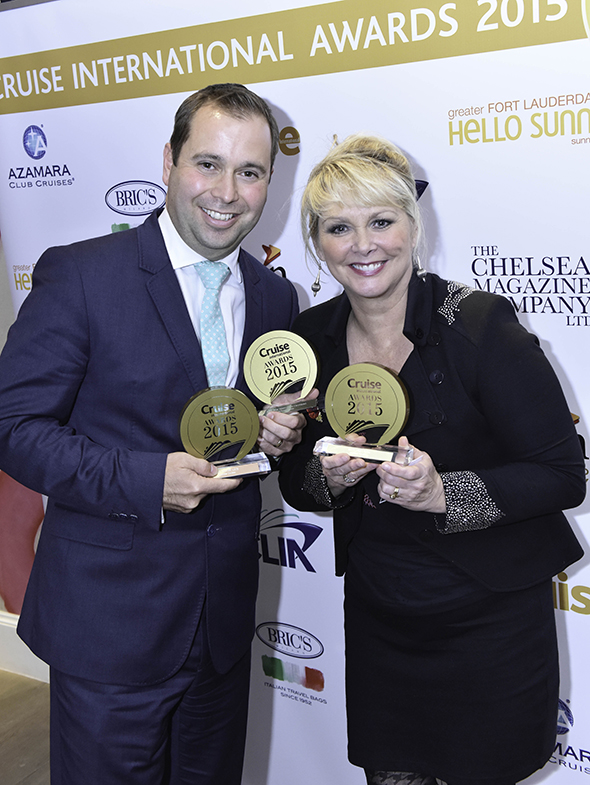 Tony Roberts, Vice-President UK & Europe of Princess Cruises, and Cheryl Baker