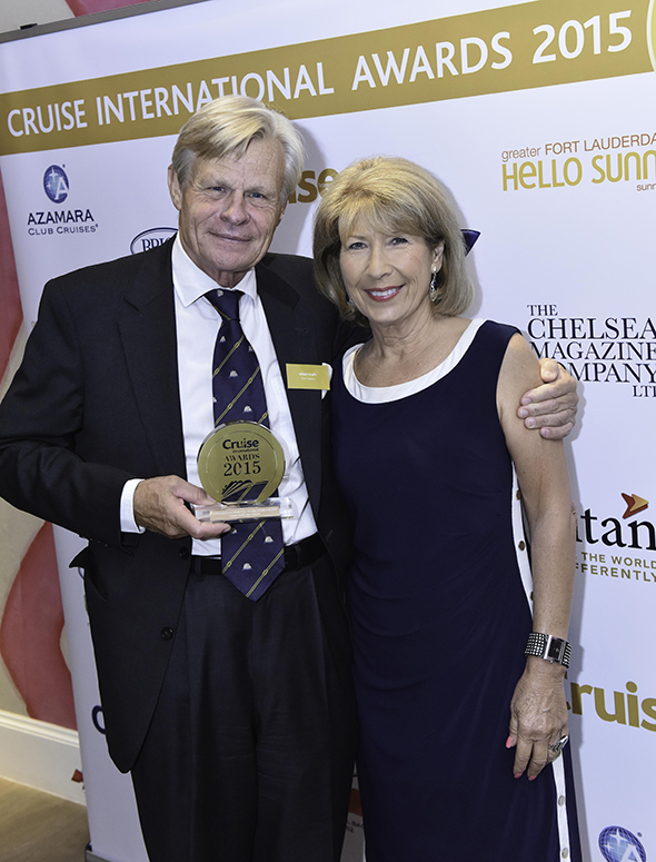 Mikael Krafft, founder and owner of Star Clippers, and Jennie Bond