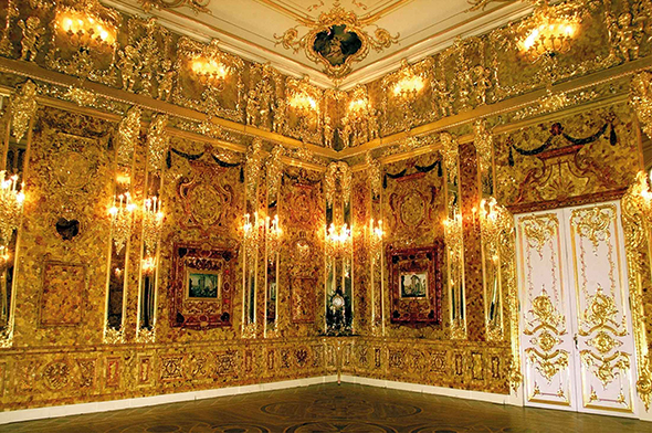The gilded Amber Room at the Catherine Palace
