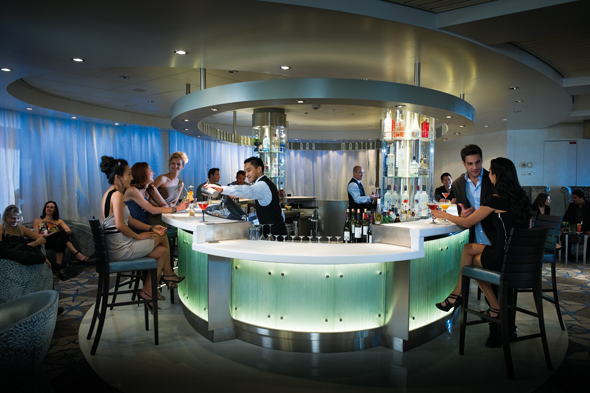 Celebrity Constellation's Martini Bar - cruise lines for younger guests