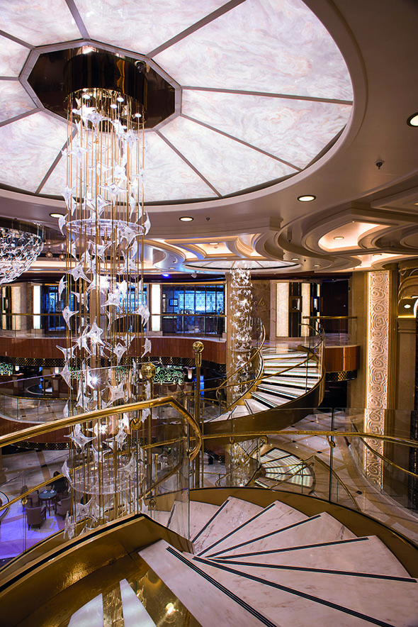Royal Princess' sparkling atrium