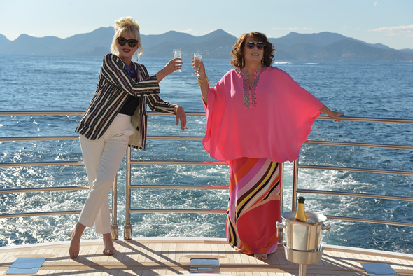 Joanna Lumley and Jennifer Saunders as Ab Fab's Patsy and Edina. Credit photo: © Fox Searchlight Pictures