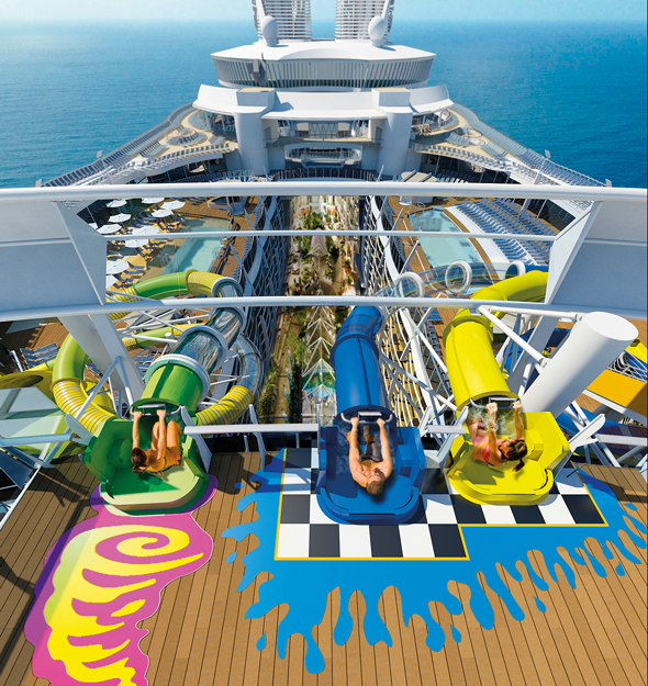 Water slides launchpad on Royal Caribbean's Harmony of the Seas