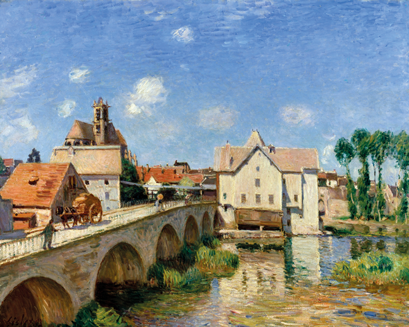 The Bridge of Moret in 1893 by Alfred Sisley. Credit Corbis Images