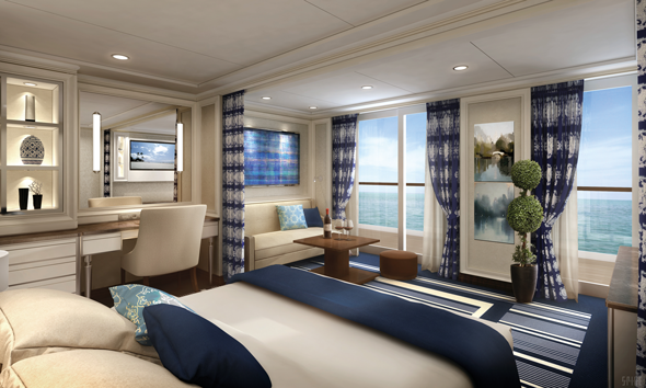A Concierge Suite on board Regent Seven Seas Explorer