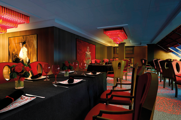 The Red Ginger restaurant on board Oceania Sirena