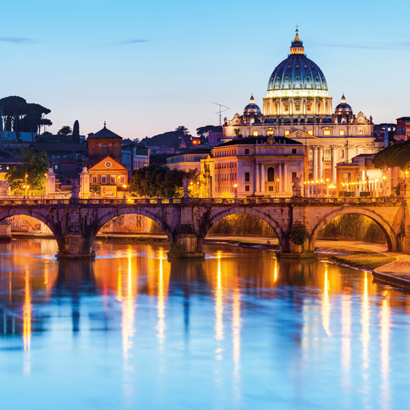 Vatican City viewed from the Tiber River. Credit iStock