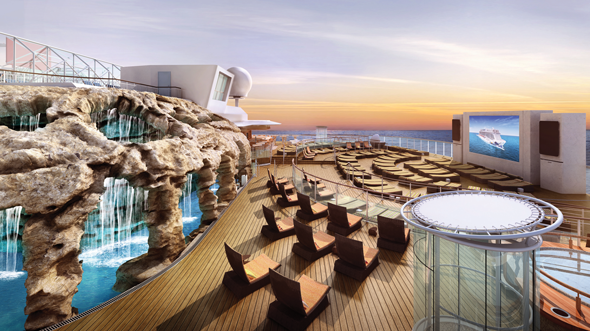 Norwegian Escape's outdoor nightclub Spice H2O