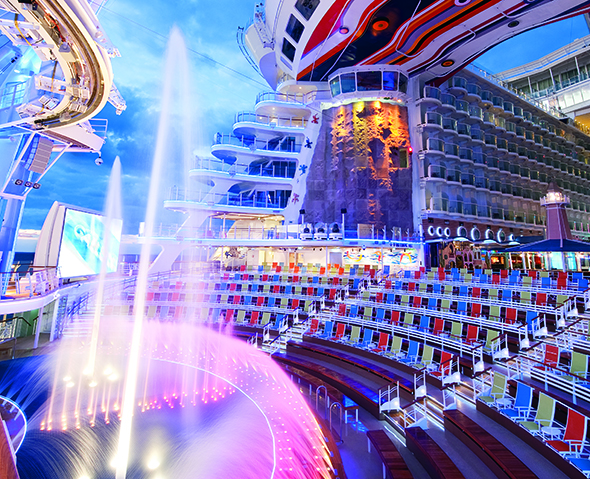 Harmony of the Seas' AquaTheater