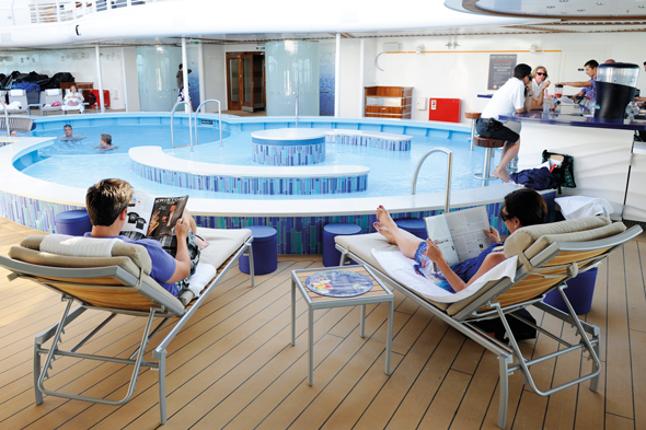 Disney Dream's adults-only Quiet Cove Pool and Bar