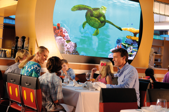 Turtle talk with Crush at Animator's Palate