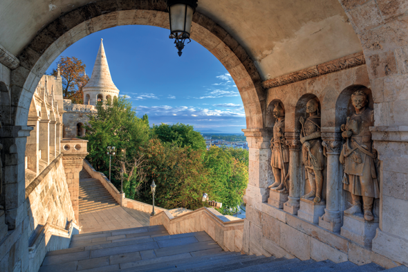Fisherman's Bastion on Buda Hill, Budapest