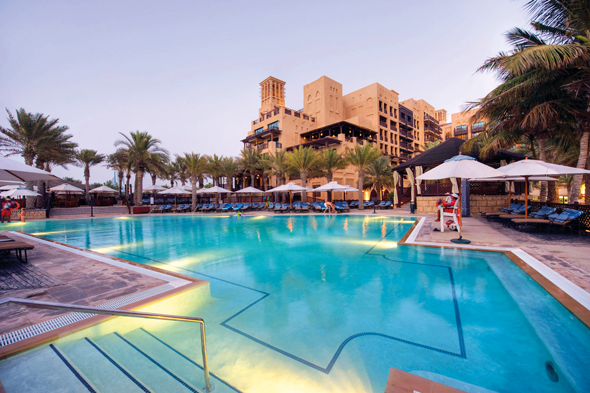 The Mina A'Salam pool at the Madinat Jumeirah