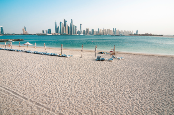 View of Jumeirah from Palm Island, Dubai. Credit iStock